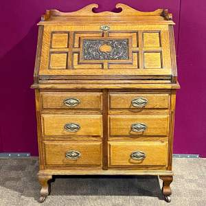 Late 19th Century Thomsons Patent Oak Bureau