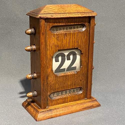 Victorian Oak Perpetual Calendar image-1