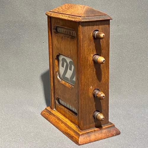 Victorian Oak Perpetual Calendar image-2