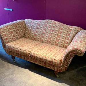 Victorian Upholstered Scroll Arm Sofa
