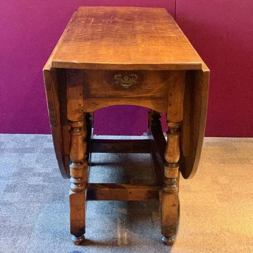 Large Oval Oak Drop Leaf Dining Table image-3