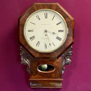 English 8-Day Fusee Drop Dial Wall Clock by Henry Kellett