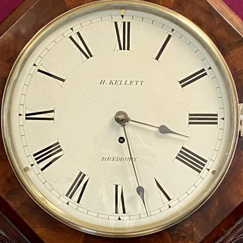 English 8-Day Fusee Drop Dial Wall Clock by Henry Kellett image-2