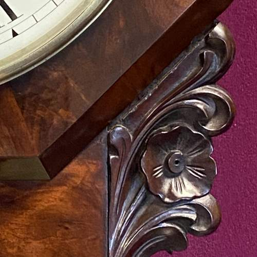 English 8-Day Fusee Drop Dial Wall Clock by Henry Kellett image-4