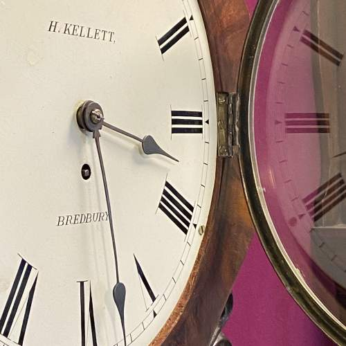 English 8-Day Fusee Drop Dial Wall Clock by Henry Kellett image-5