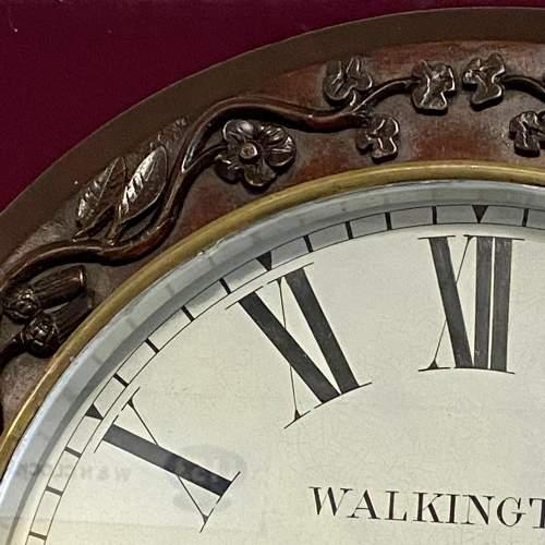 English 8-Day Single Fusee Drop Dial Wall Clock image-2