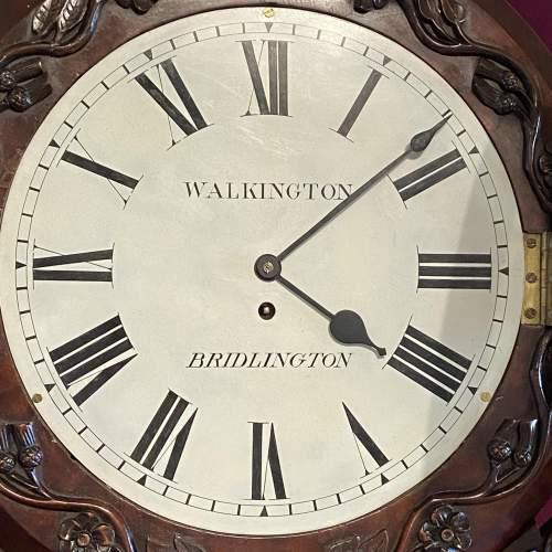 English 8-Day Single Fusee Drop Dial Wall Clock image-3