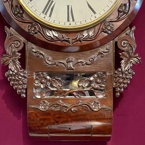 English 8-Day Single Fusee Drop Dial Wall Clock image-4