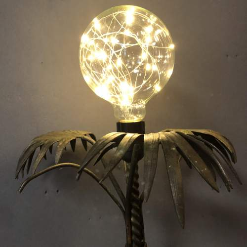 Palm Tree Brass and Copper Dolly Lamp image-2
