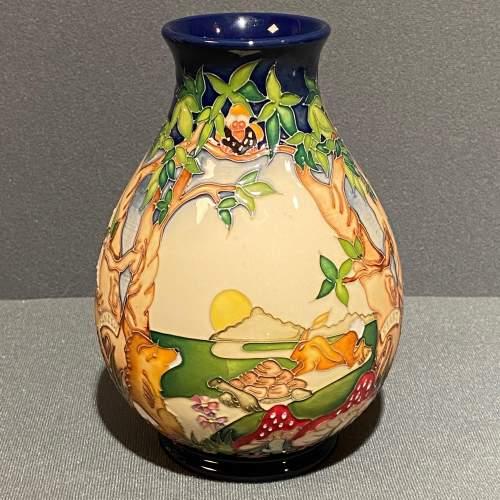 Moorcroft Pottery Snail and Tortoise Pattern Vase image-1