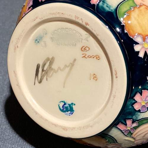 Moorcroft Pottery Snail and Tortoise Pattern Vase image-6