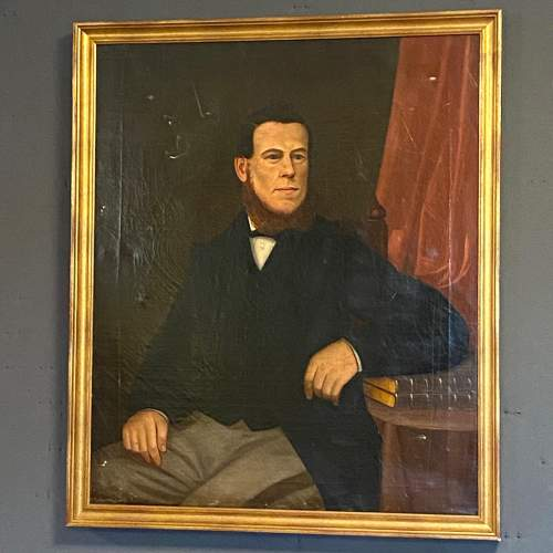 19th Century Oil on Canvas Portrait of a Gentleman image-1