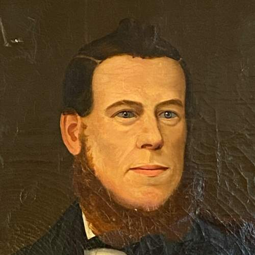 19th Century Oil on Canvas Portrait of a Gentleman image-2