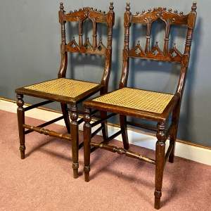 Pair of Victorian Gothic Revival Chairs