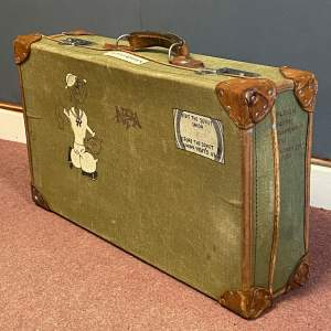 Popeye Decorated Ex-Forces Canvas Suitcase
