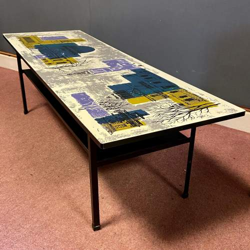 Terence Conran Design Coffee Table with John Piper Design Top image-1