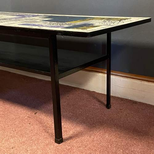 Terence Conran Design Coffee Table with John Piper Design Top image-5