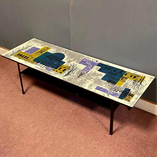 Terence Conran Design Coffee Table with John Piper Design Top image-4