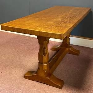 Robert Mouseman Thompson Carved Oak Coffee Table
