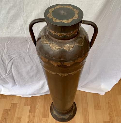 Decorative Floor Standing Eastern Metalic Urn Vase image-2