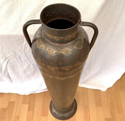 Decorative Floor Standing Eastern Metalic Urn Vase image-4