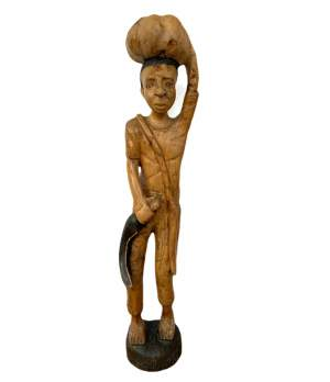 Tall Carved Wooden Figure