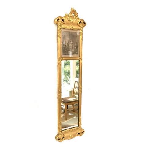 19th Century French Gilt Trumeau Mirror image-2
