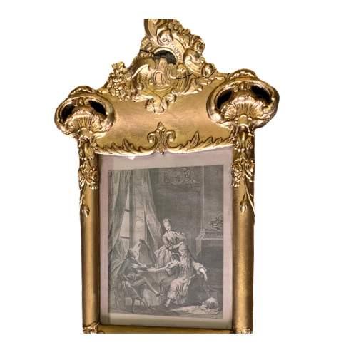 19th Century French Gilt Trumeau Mirror image-4