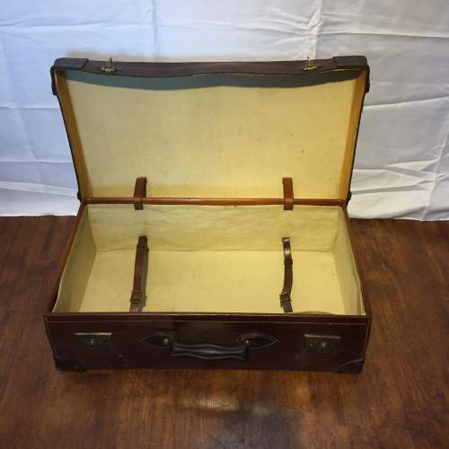 Quality Brown Leather Suitcase Circa 1930s image-4