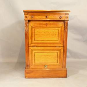 19th Century Satinwood Music Cabinet