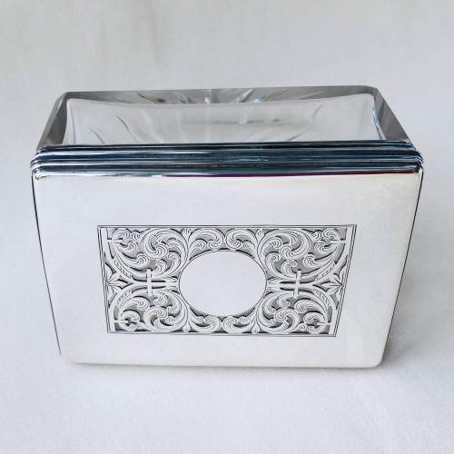 Victorian Cut Glass and Silver Dressing Table Jar image-2