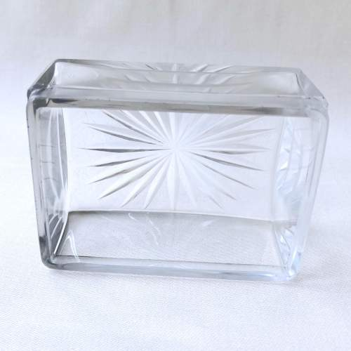 Victorian Cut Glass and Silver Dressing Table Jar image-3