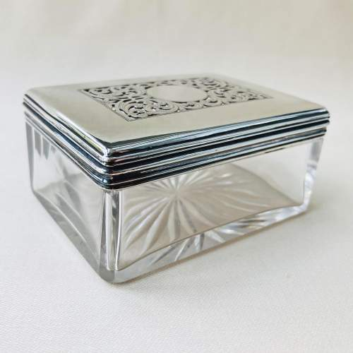 Victorian Cut Glass and Silver Dressing Table Jar image-4