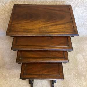 Edwardian Mahogany Quartetto Nest of Tables