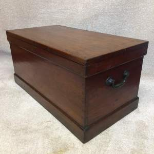 19th Century Teak Military Style Travelling Trunk