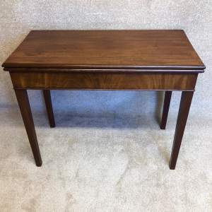 19th Century Mahogany Card Table With Concertina Action