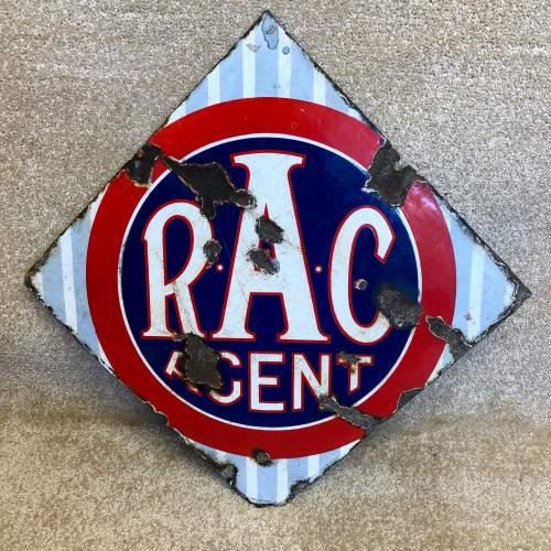 Vintage Enamel RAC Sign image-1