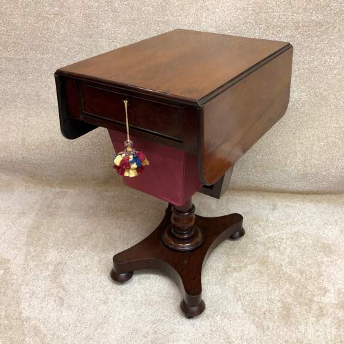 19th Century Mahogany Work Table image-1