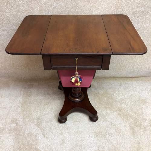 19th Century Mahogany Work Table image-2