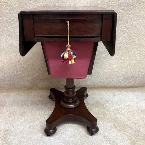 19th Century Mahogany Work Table image-3