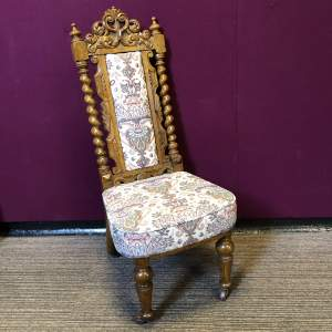 19th Century Carved Hall Chair