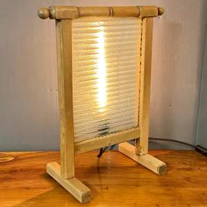 Vintage Upcycled Glass and Wooden Washboard Light