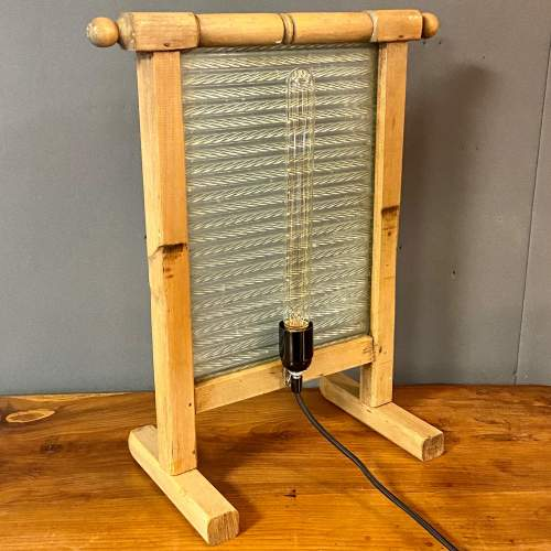 Vintage Upcycled Glass and Wooden Washboard Light image-4