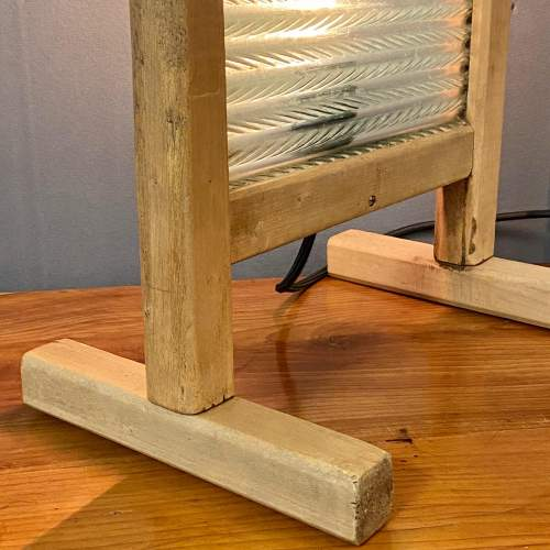 Vintage Upcycled Glass and Wooden Washboard Light image-3