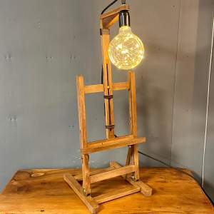 Vintage Upcycled Tabletop Easel Light