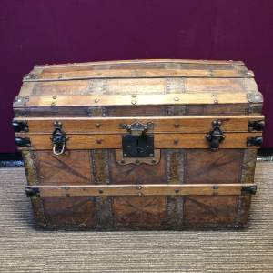 Early Victorian Steamer Cabin Trunk