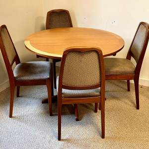 Nathan Teak Round Table and Four Chairs