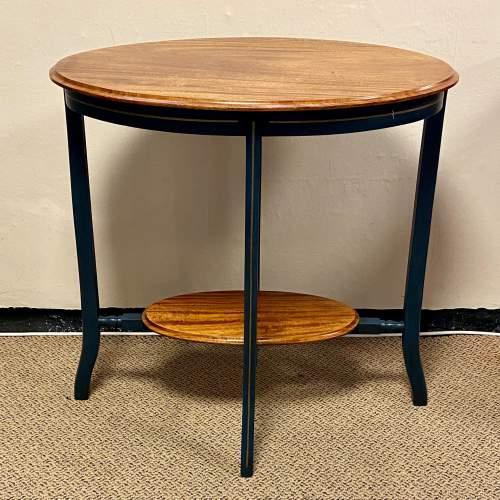 Edwardian Oval Flame Mahogany Table image-1