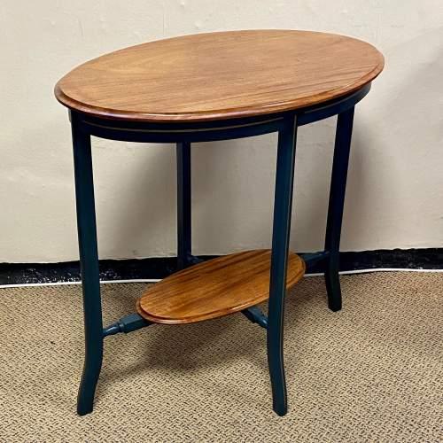 Edwardian Oval Flame Mahogany Table image-2