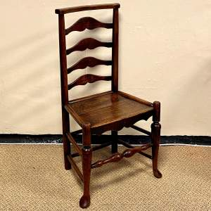 18th Century Oak and Elm Macclesfield Chair
